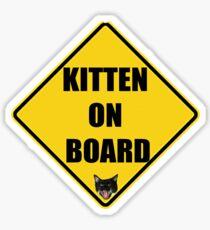 Kitten on Board Sticker Sticker