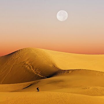 Full Moon over Mesquite Flat Sand Dunes  by alex4444