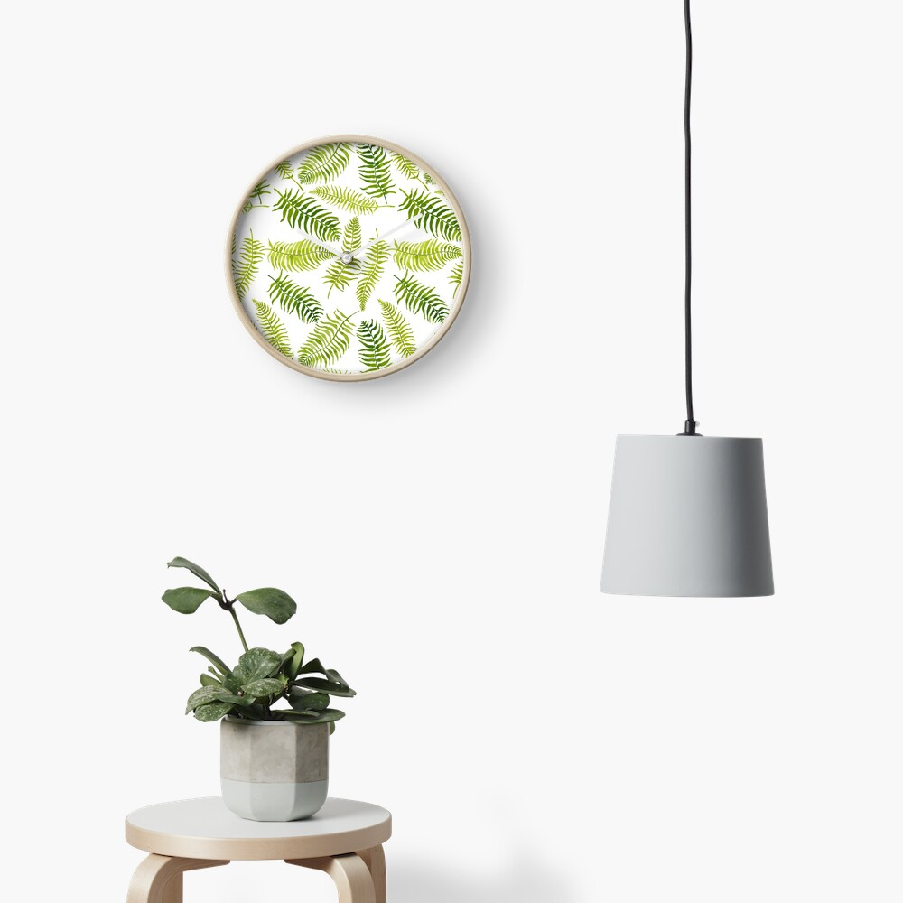 Fern Limelight Clock