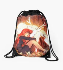 Heart of Fall Drawstring Bag