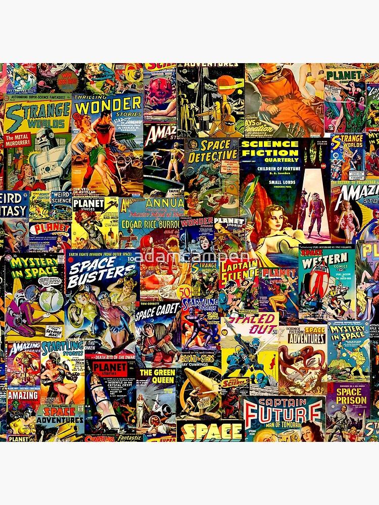 Collage cómico de ciencia ficción de adamcampen