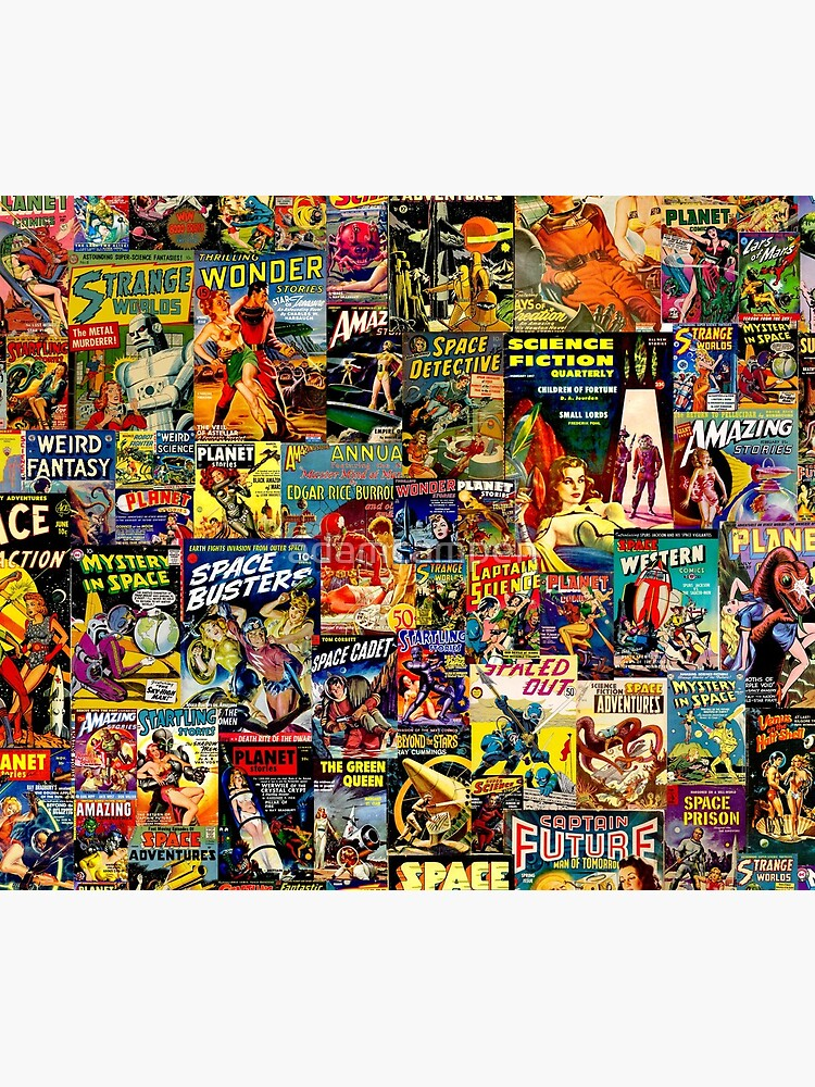 Sci-Fi Comic Collage by adamcampen