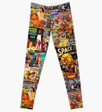 Sci-Fi Comic Collage Leggings