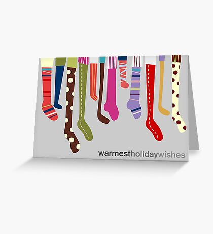 Warm Wishes Stockings Greeting Card