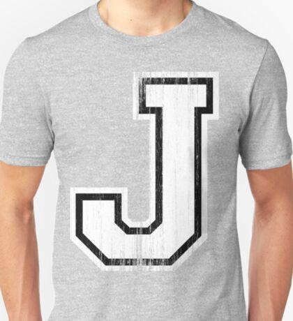 Big Sports Letter J T-Shirt