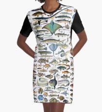 Sea Life Lover Graphic T-Shirt Dress