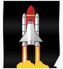 Rocket Space Shuttle Houston Poster