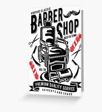 Barber Shop Greeting Card