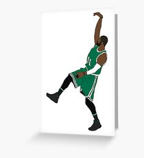 "Kyrie Irving ""Hold It"" Greeting Card"