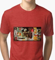 Jean-Michel Basquiat - Notary 1983 Tri-blend T-Shirt