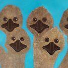 Emu Gathering by Julie  Sutherland