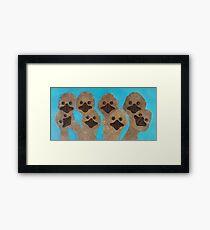 Emu Gathering Framed Print