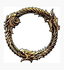 Elder Scrolls Dragon loop Photographic Print