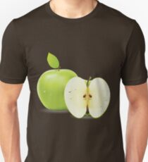 Green apple and half of apple  Unisex T-Shirt