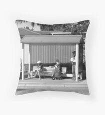 Synchronized Bus Watch. Throw Pillow