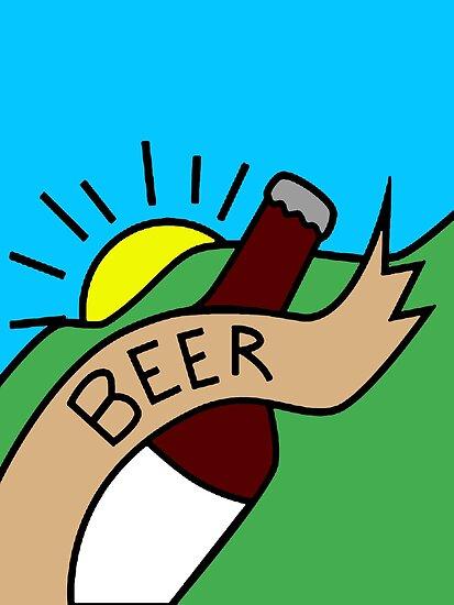 Ricks Mortys Garage Beer Poster Design By ThatMerchStore