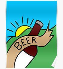 Rick's & Morty's Garage Beer Poster Design Poster