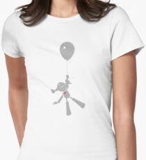 Zoe takes a ride. Women's Fitted T-Shirt