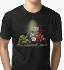 And That's How I Saved The World Jesus Shirt Tri-blend T-Shirt