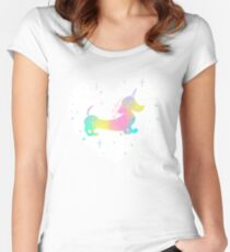 Magical Unicorn Dachshund Women's Fitted Scoop T-Shirt