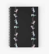 Pole Dancing Ponies (Version One) Spiral Notebook