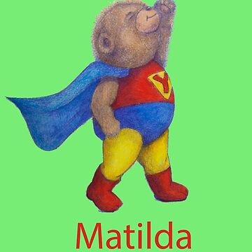 MATILDA Super Hero Yoga Bear by MonicaArtist