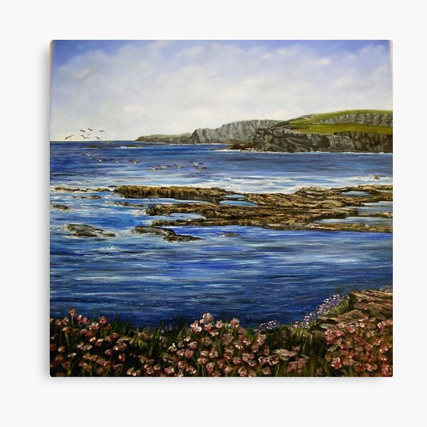"""Kilkee Cliffs - County Clare"" Canvas Print"