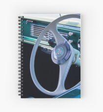 Vintage Car Steering Wheel Spiral Notebook