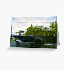 """Kilrush Bridge, County Clare, Ireland"" Greeting Card"