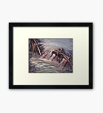 Hold on dad Framed Print