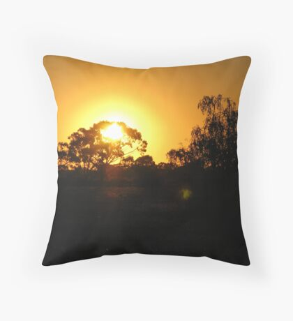 """""""Sunset over the Fields""""  ...For naturelover... Throw Pillow"""