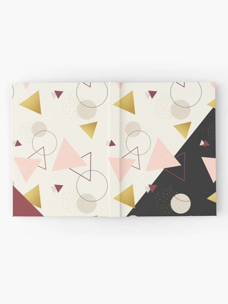Alternate view of Triangles Mix #redbubble #decor #buyart Hardcover Journal