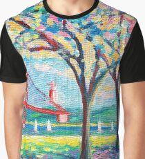 Tejo river. plein air. Lisbon Graphic T-Shirt