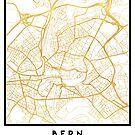 BERN SWITZERLAND CITY STREET MAP ART by deificusArt