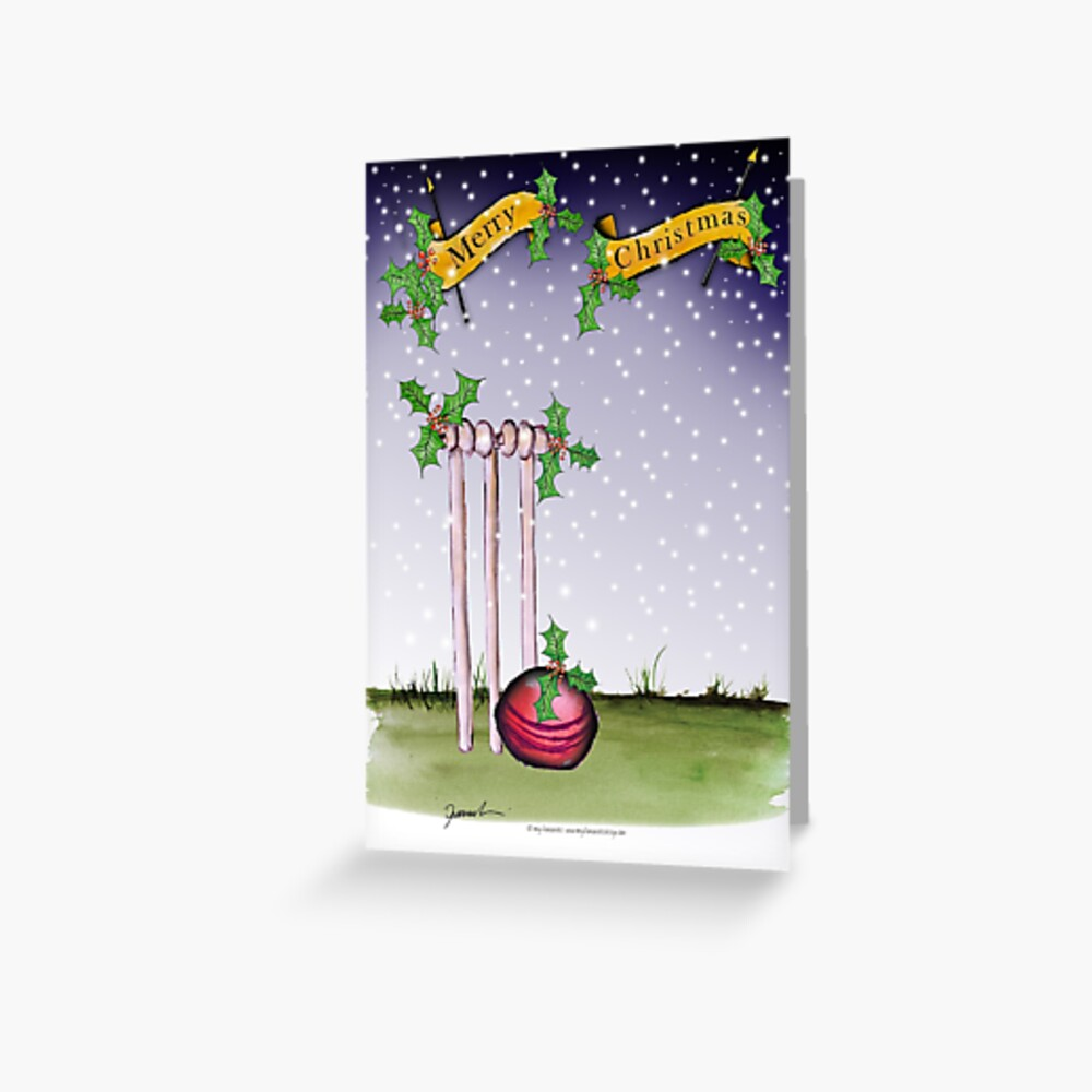 Cricket Merry Christmas Greeting Card
