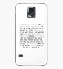 mickey milkovich quotes Case/Skin for Samsung Galaxy