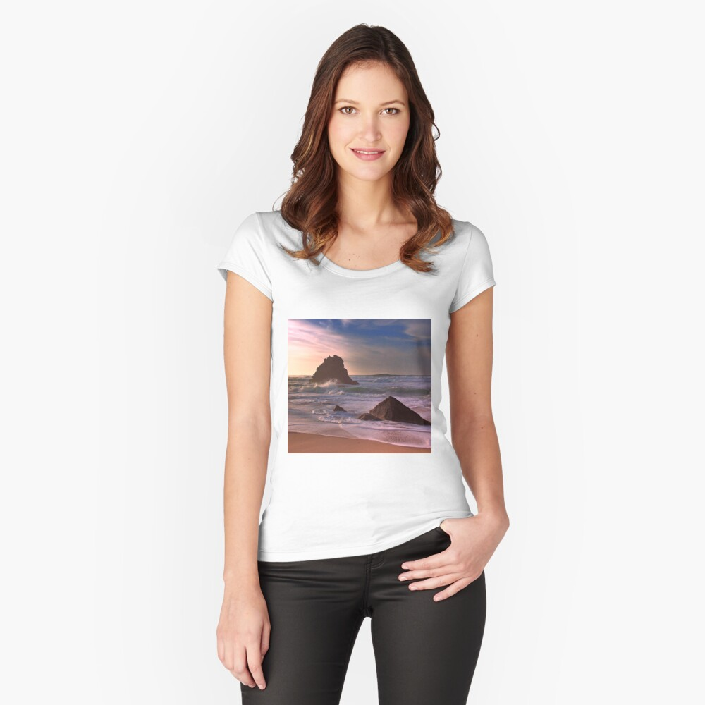 adraga trinity... Women's Fitted Scoop T-Shirt Front