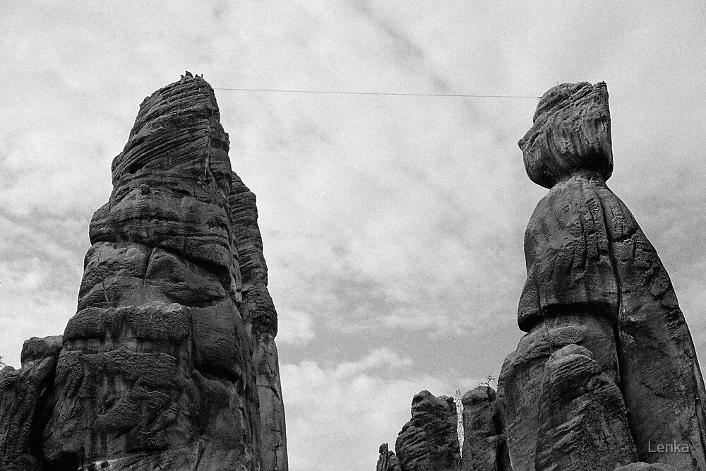Climbing the rocks by Lenka