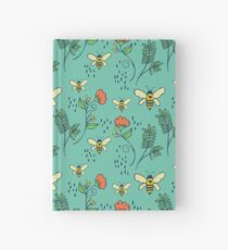 Bees and Flowers Hardcover Journal