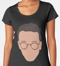 Camiseta premium de cuello ancho Lógica