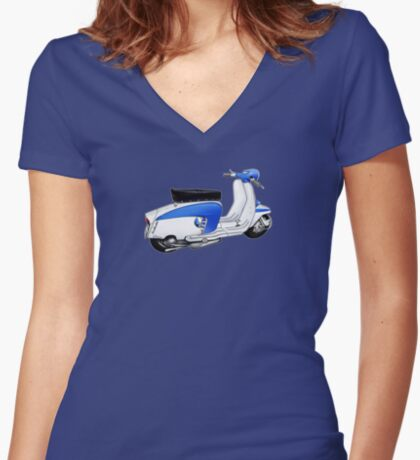 Scooter T-shirts Art: TV 175 Lambretta illustration Women's Fitted V-Neck T-Shirt
