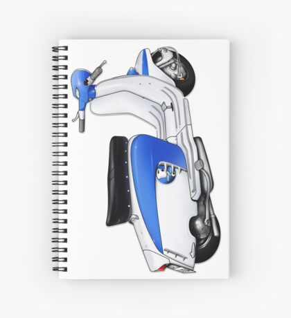 Scooter T-shirts Art: TV 175 Lambretta illustration Spiral Notebook