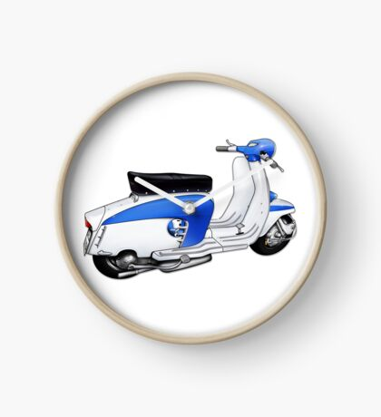 Scooter T-shirts Art: TV 175 Lambretta illustration Clock