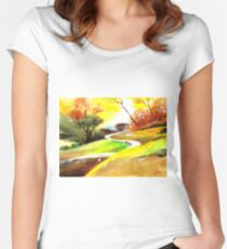 Landscape 6 Women's Fitted Scoop T-Shirt