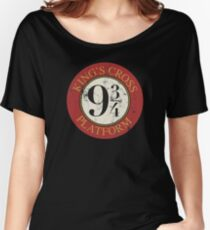 Platform 9 3/4 Distressed Women's Relaxed Fit T-Shirt