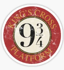 Platform 9 3/4 Distressed Sticker