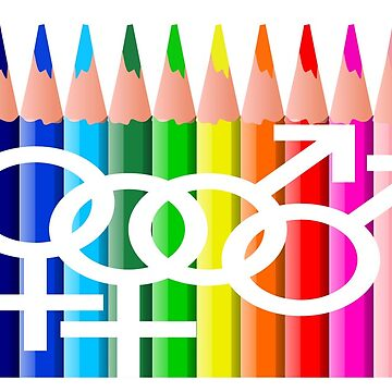 LGBTQI Pencils Rainbow  by AGGRO