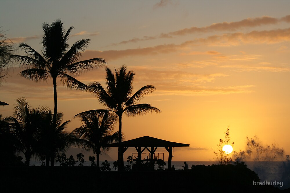 hawaii sunset by bradhurley