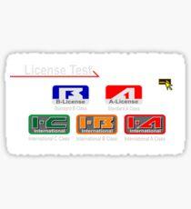 Gran Turismo 2 License  Sticker