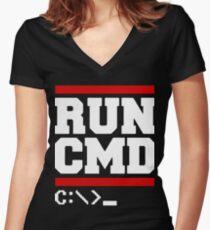 RUN CMD t-shirts Women's Fitted V-Neck T-Shirt